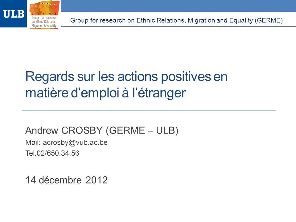 Regards sur les actions positives en matière d'emploi à l'étranger