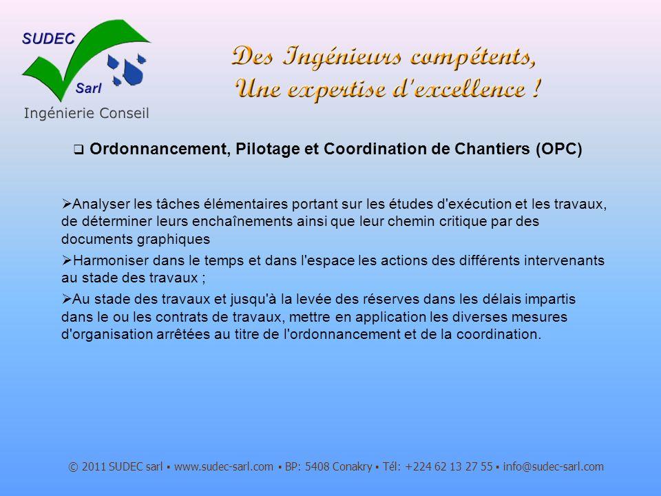 Ordonnancement, Pilotage et Coordination de Chantiers (OPC)