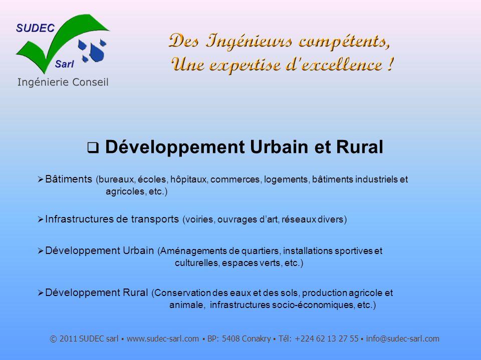Développement Urbain et Rural