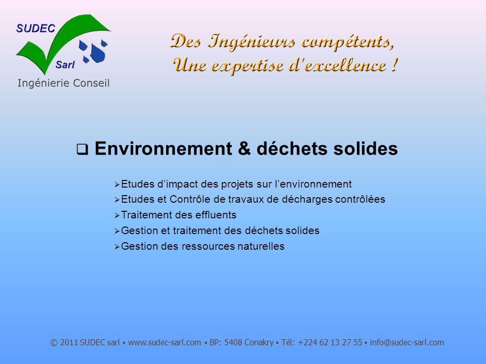 Environnement & déchets solides