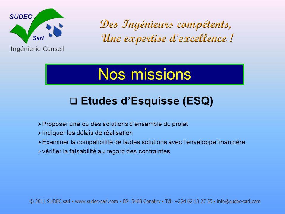 Etudes d'Esquisse (ESQ)