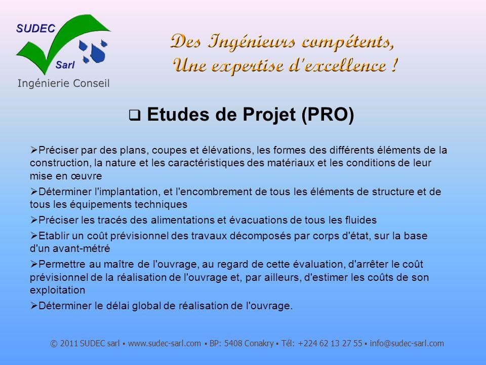 Etudes de Projet (PRO)