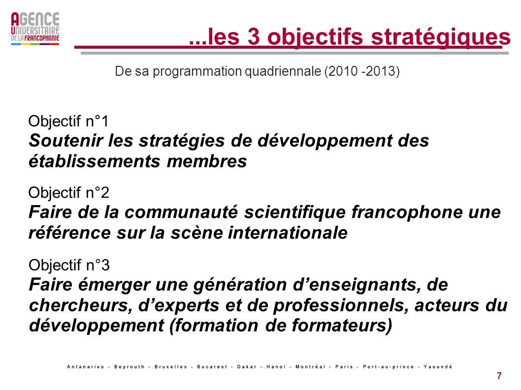 ...les 3 objectifs stratégiques