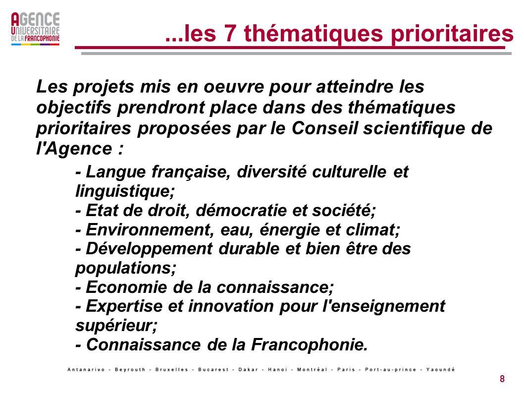 ...les 7 thématiques prioritaires
