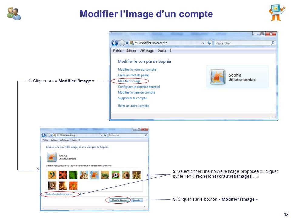 Modifier l'image d'un compte