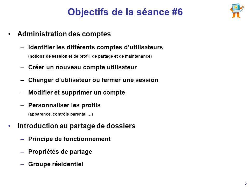 Objectifs de la séance #6