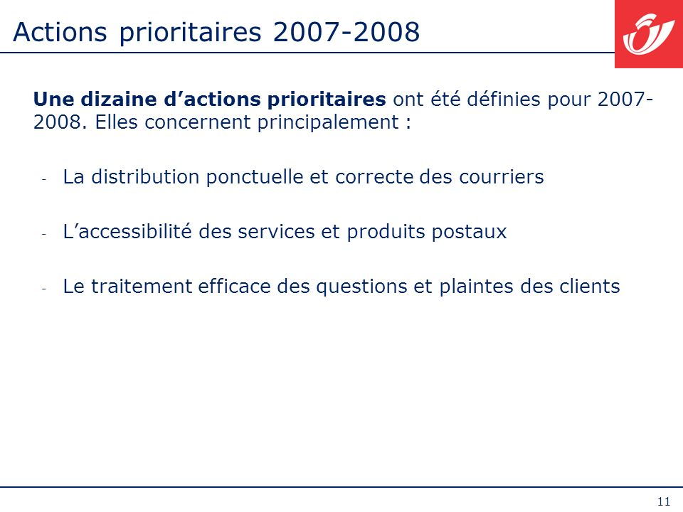 Actions prioritaires 2007-2008