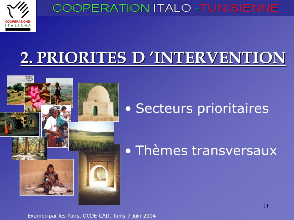 2. PRIORITES D 'INTERVENTION