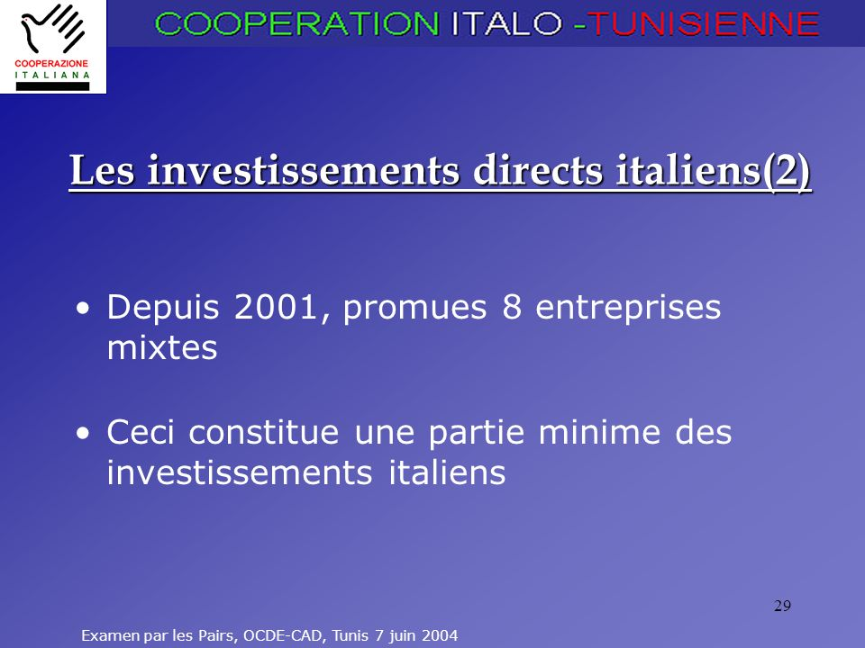 Les investissements directs italiens(2)