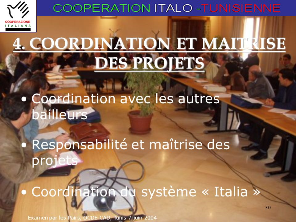 4. COORDINATION ET MAITRISE DES PROJETS