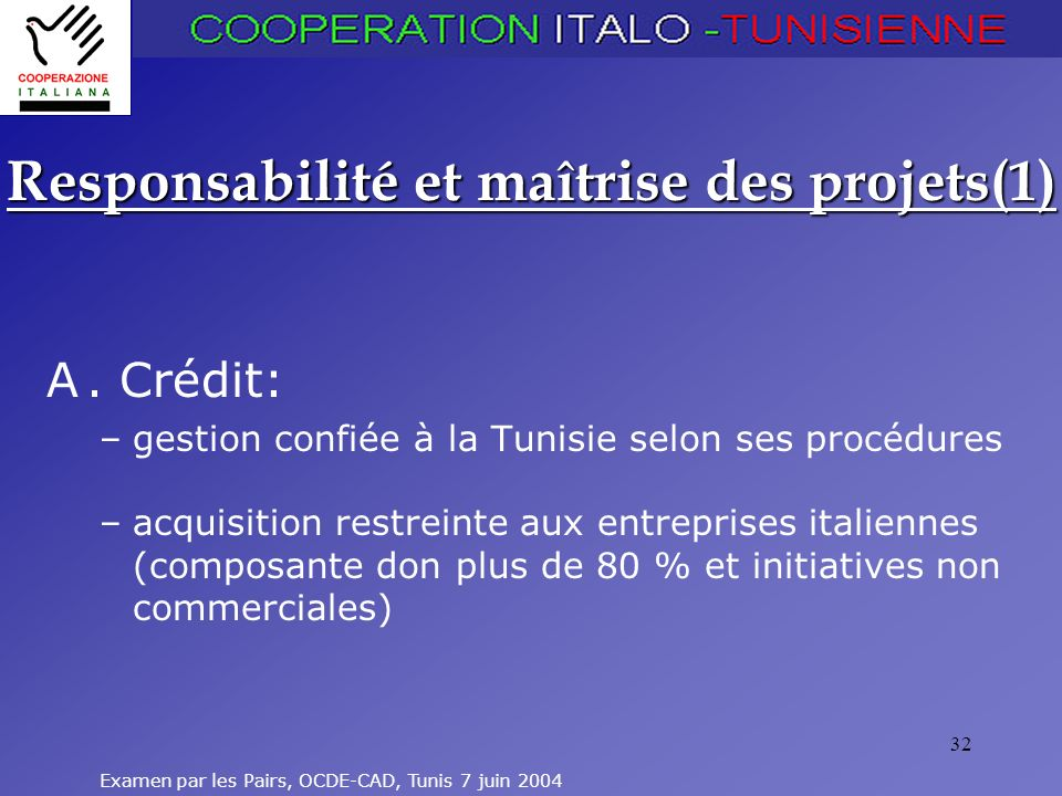 Responsabilité et maîtrise des projets(1)