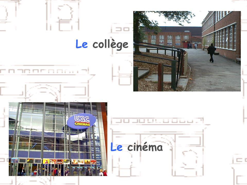 Le collège Le cinéma