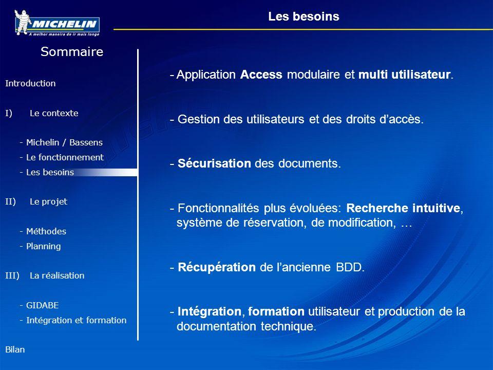 - Application Access modulaire et multi utilisateur.