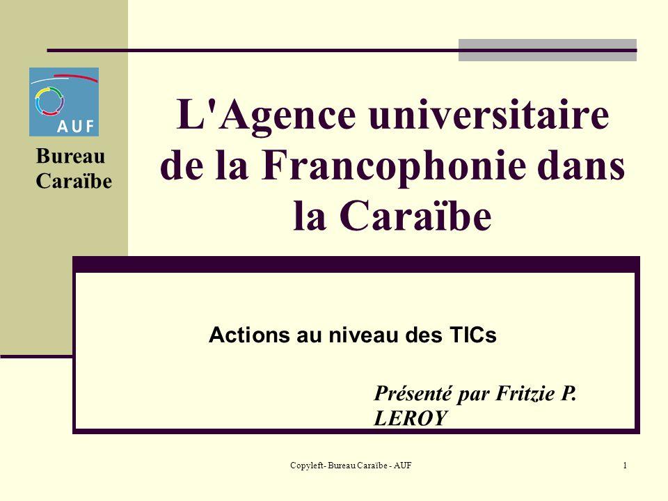 L Agence universitaire de la Francophonie dans la Caraïbe