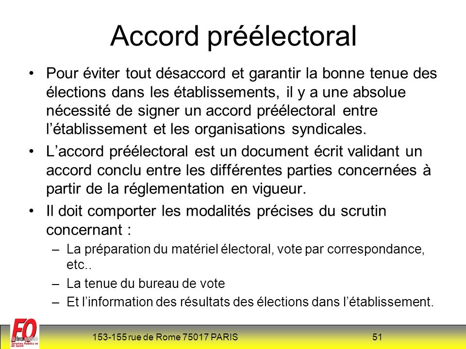 Accord préélectoral