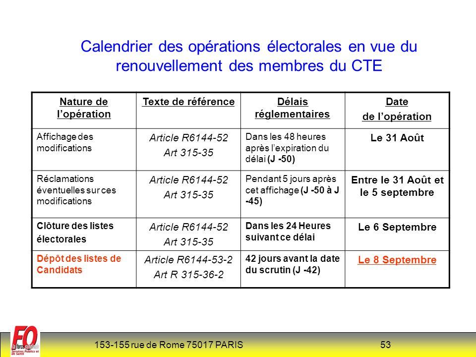 Délais réglementaires Entre le 31 Août et le 5 septembre
