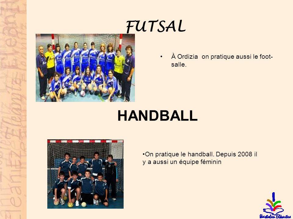 FUTSAL HANDBALL À Ordizia on pratique aussi le foot-salle.