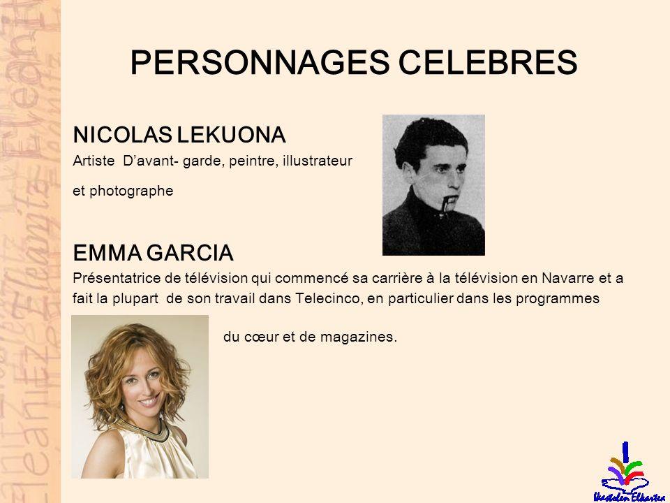 PERSONNAGES CELEBRES NICOLAS LEKUONA EMMA GARCIA