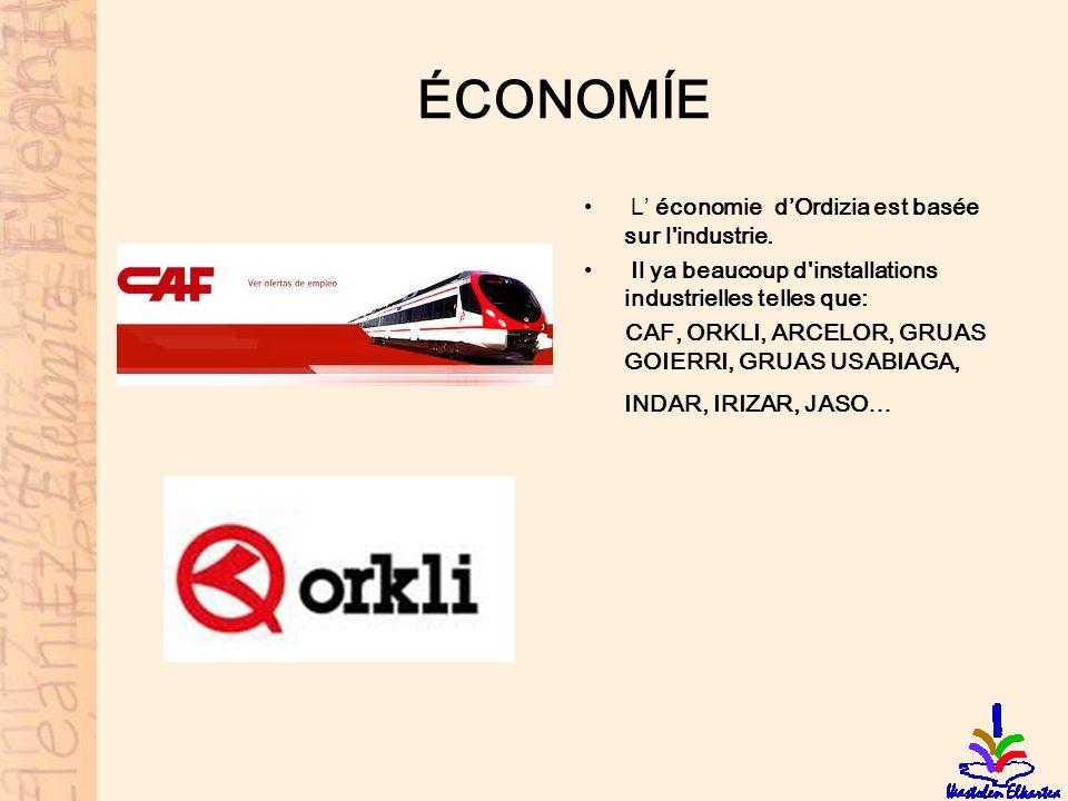 ÉCONOMÍE L' économie d'Ordizia est basée sur l industrie.