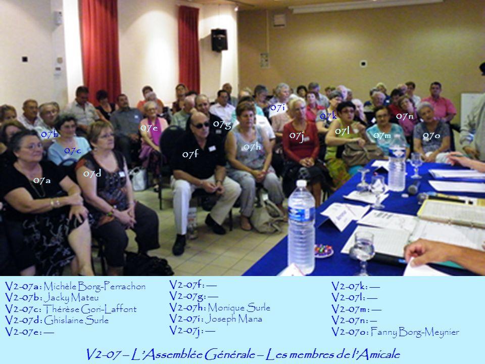 V2-07 – L'Assemblée Générale – Les membres de l'Amicale
