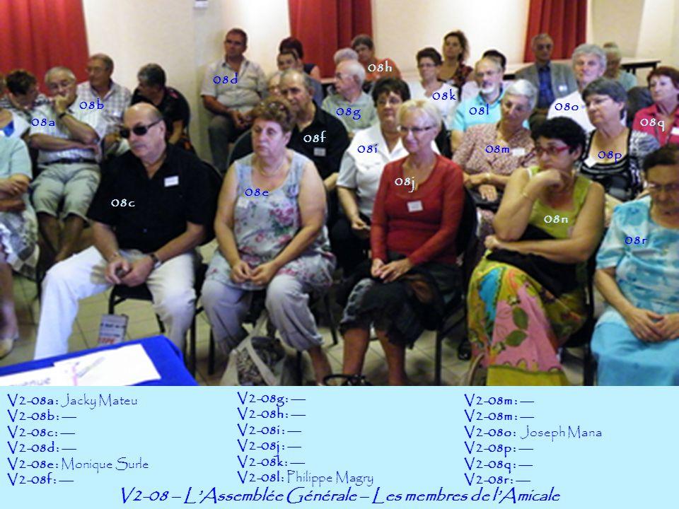 V2-08 – L'Assemblée Générale – Les membres de l'Amicale