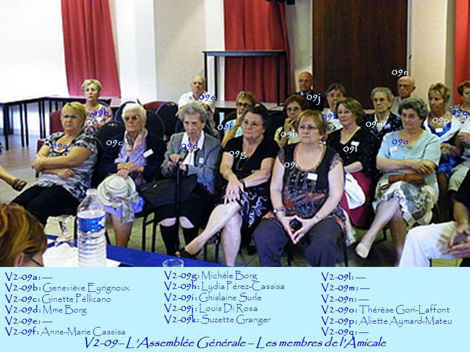 V2-09– L'Assemblée Générale – Les membres de l'Amicale