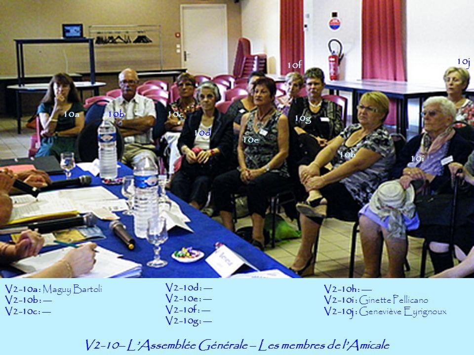 V2-10– L'Assemblée Générale – Les membres de l'Amicale