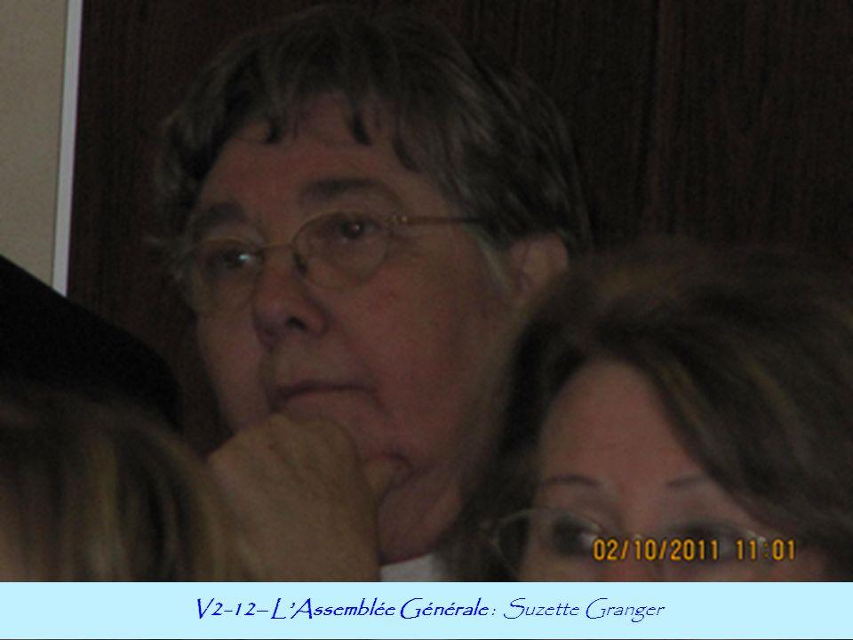 V2-12– L'Assemblée Générale : Suzette Granger