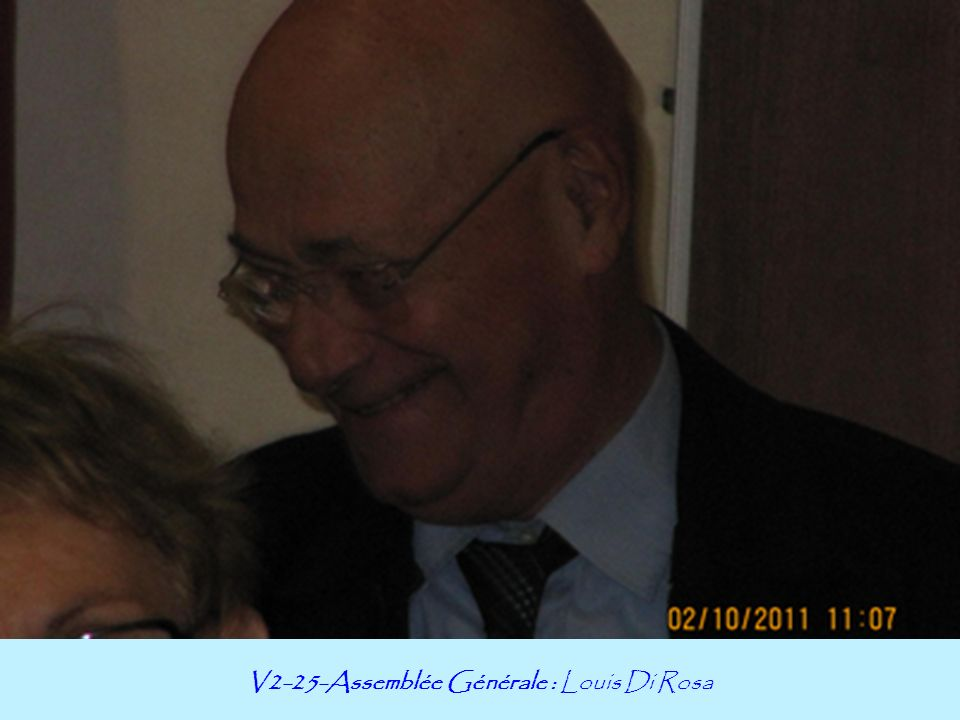 V2-25-Assemblée Générale : Louis Di Rosa