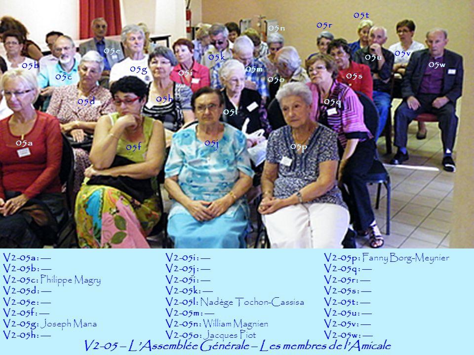 V2-05 – L'Assemblée Générale – Les membres de l'Amicale