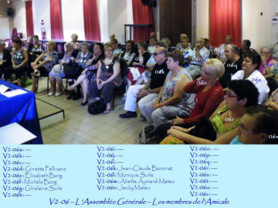 V2-06 – L'Assemblée Générale – Les membres de l'Amicale