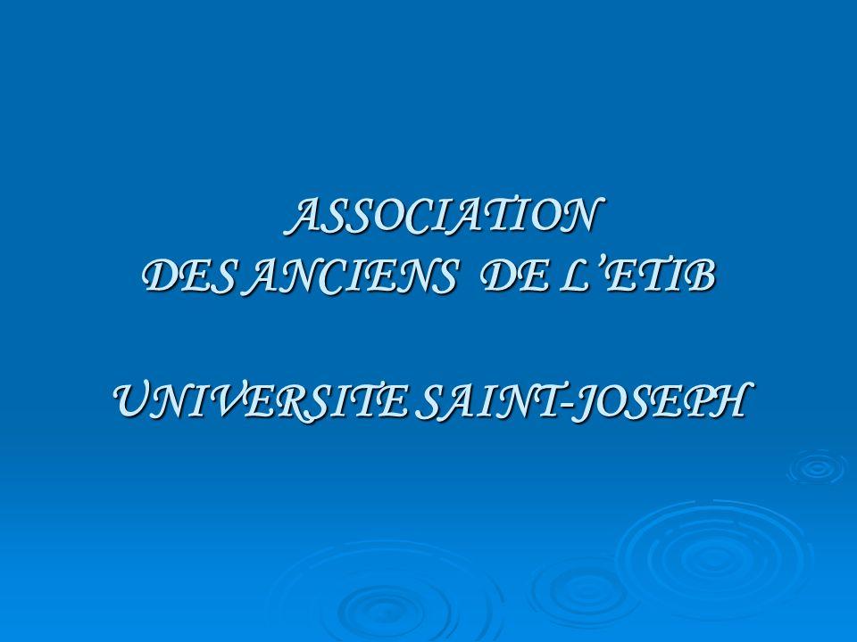 ASSOCIATION DES ANCIENS DE L'ETIB UNIVERSITE SAINT-JOSEPH