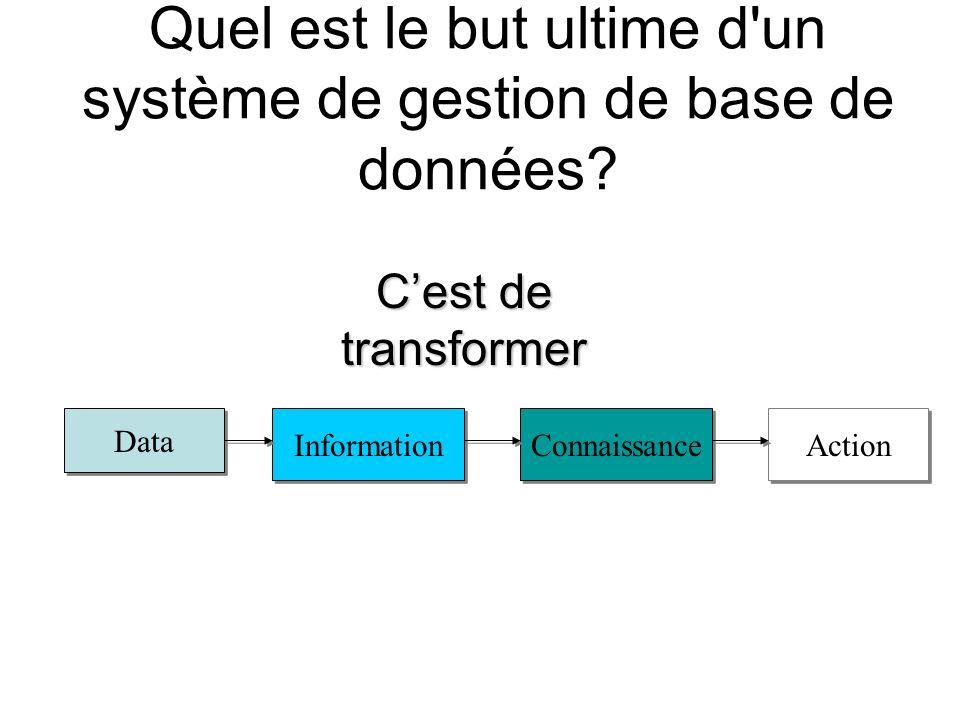 Quel est le but ultime d un système de gestion de base de données