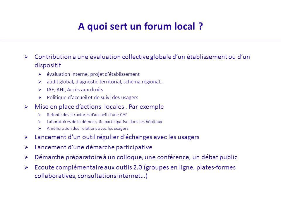 A quoi sert un forum local