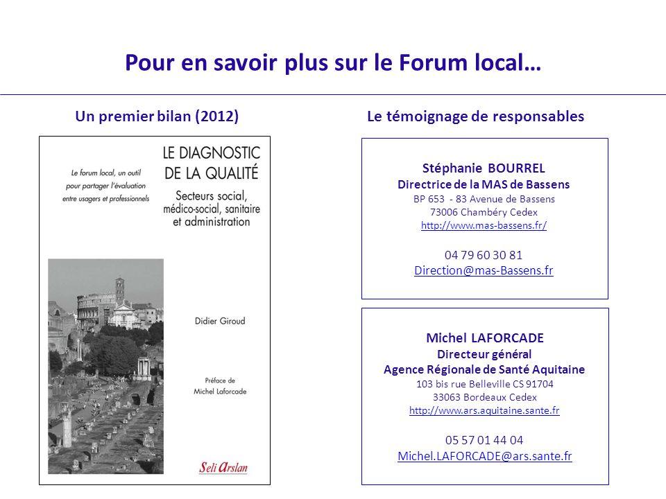 Pour en savoir plus sur le Forum local…