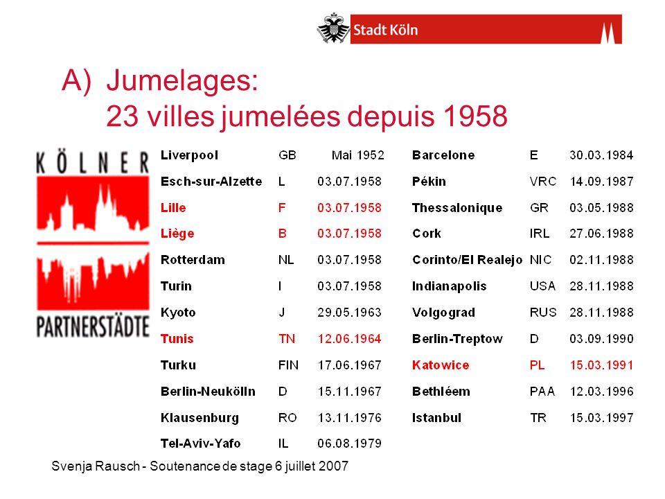 Jumelages: 23 villes jumelées depuis 1958
