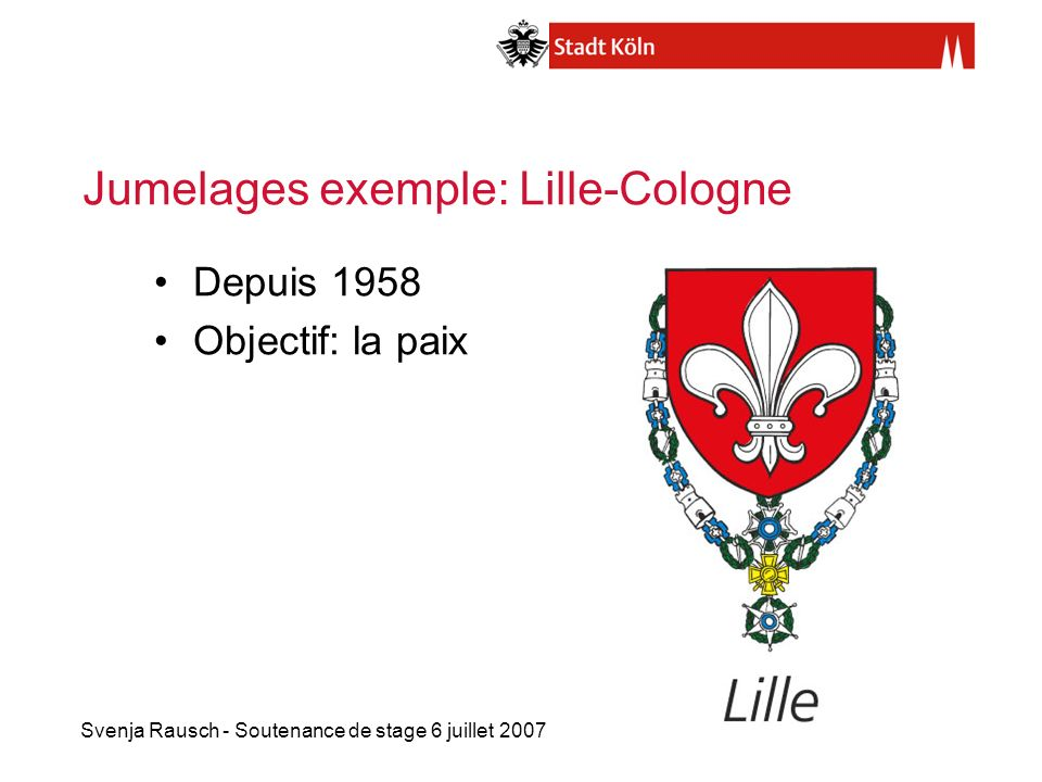 Jumelages exemple: Lille-Cologne