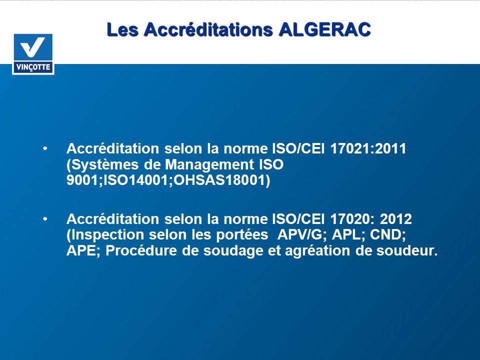 Les Accréditations ALGERAC