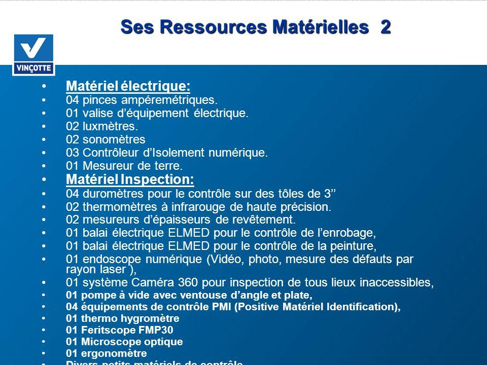 Ses Ressources Matérielles 2