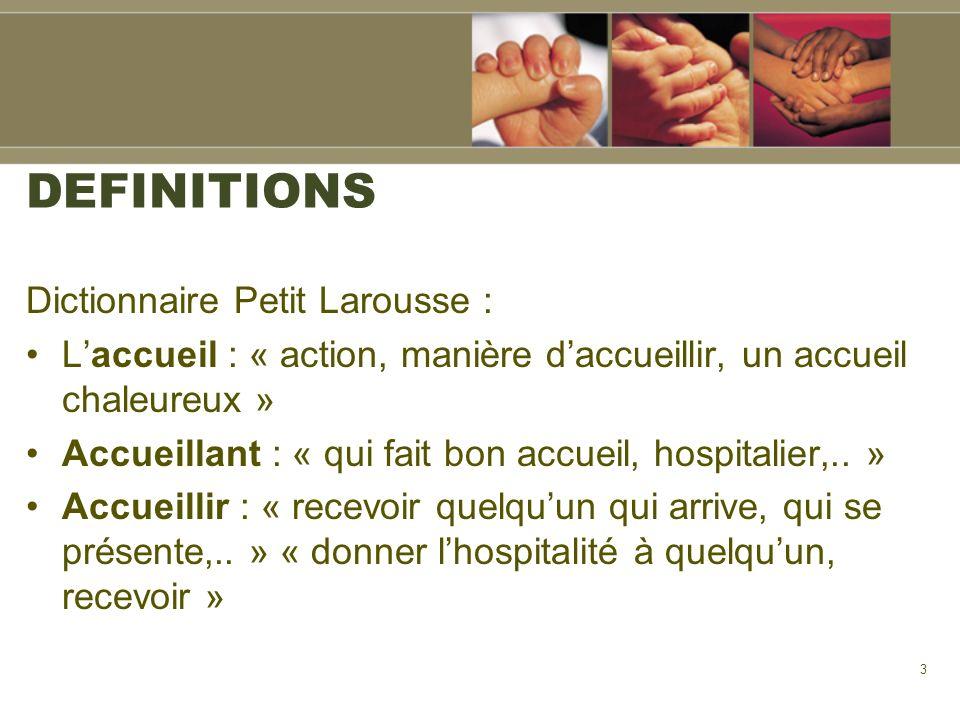 DEFINITIONS Dictionnaire Petit Larousse :