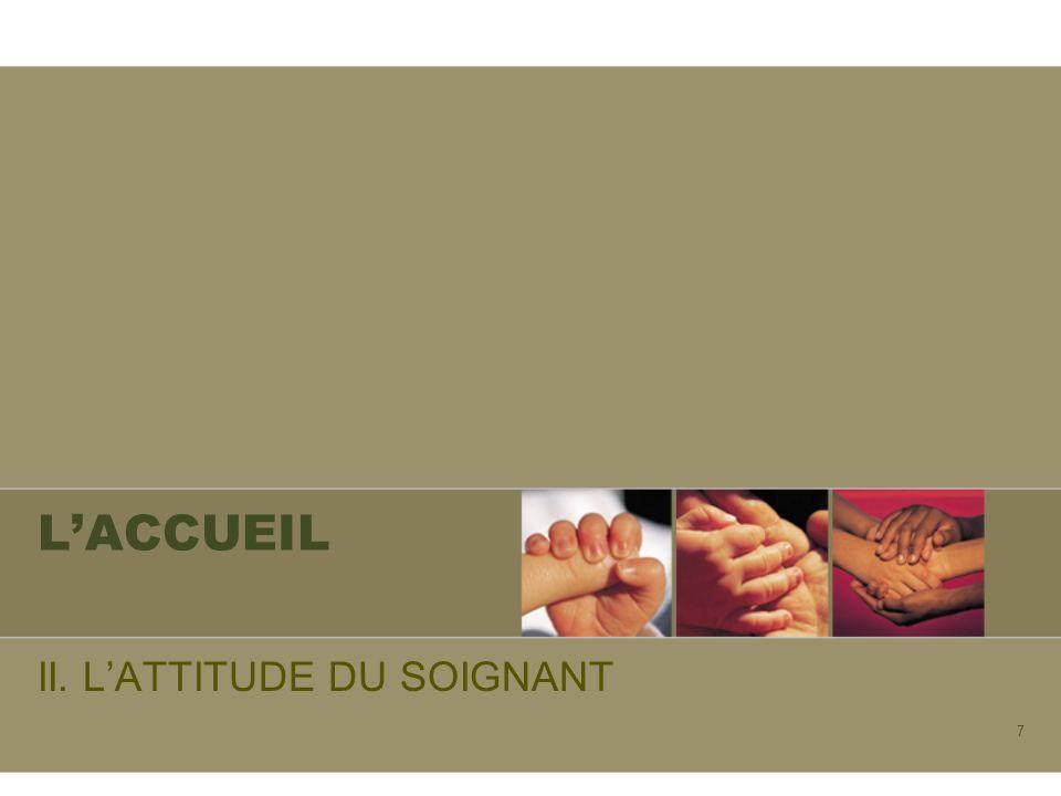 II. L'ATTITUDE DU SOIGNANT