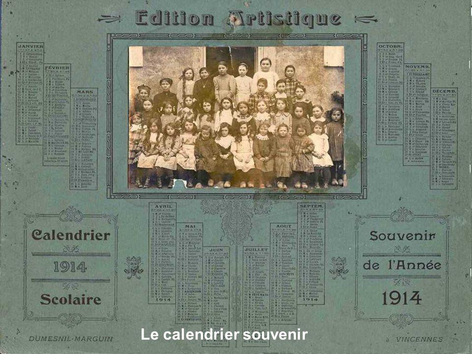 Le calendrier souvenir