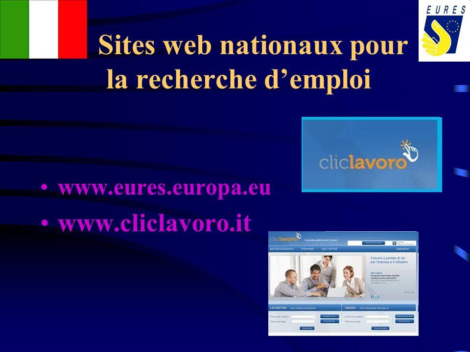 Sites web nationaux pour la recherche d'emploi
