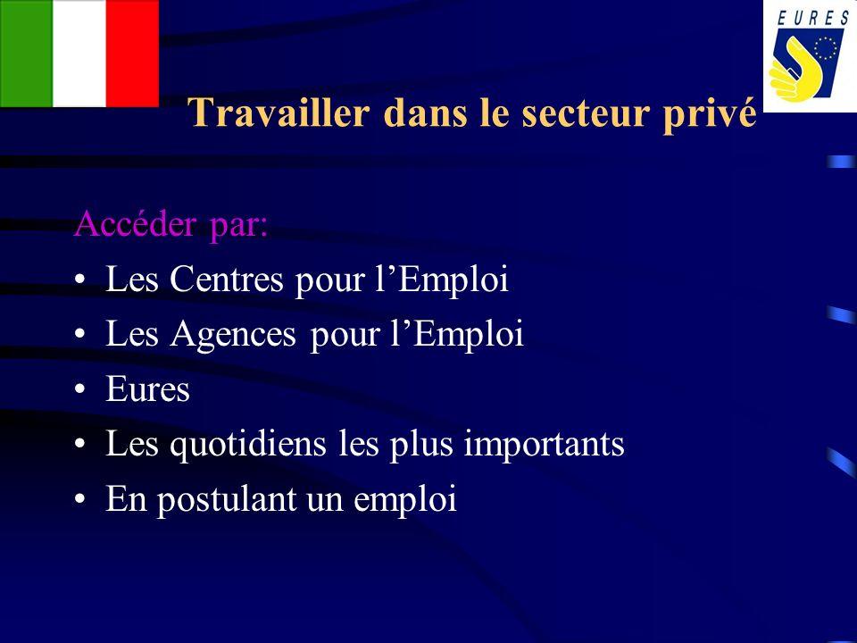Travailler dans le secteur privé