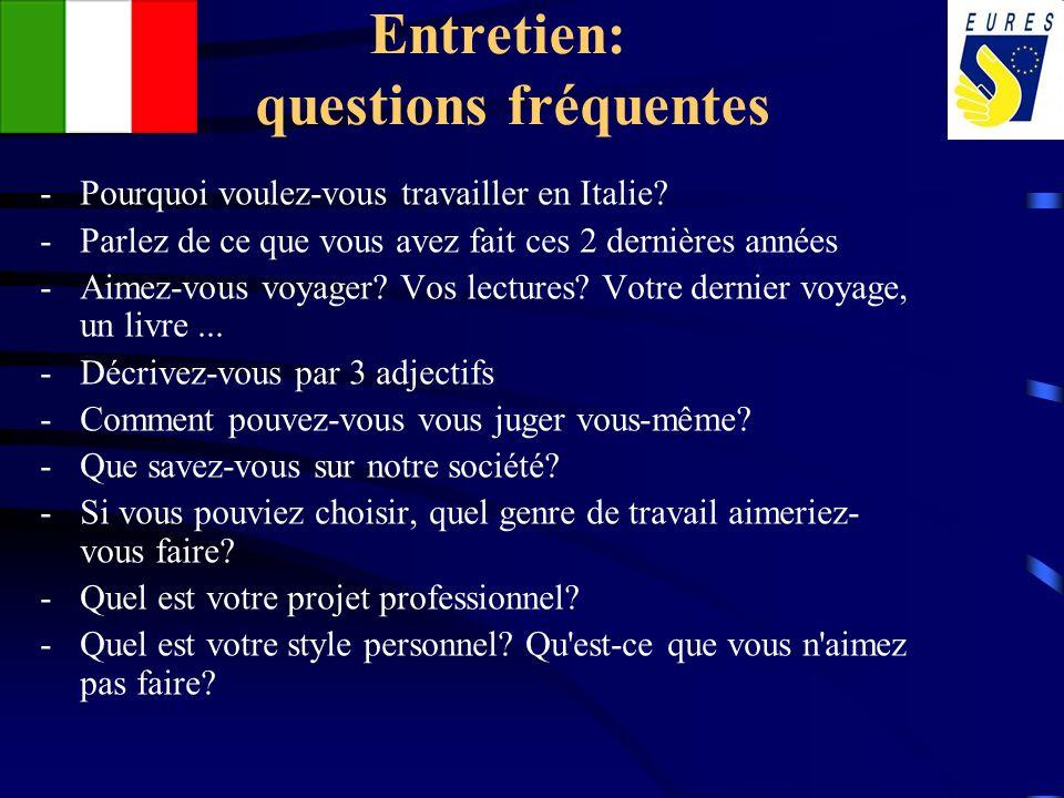 Entretien: questions fréquentes