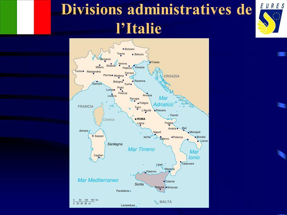 Divisions administratives de l'Italie