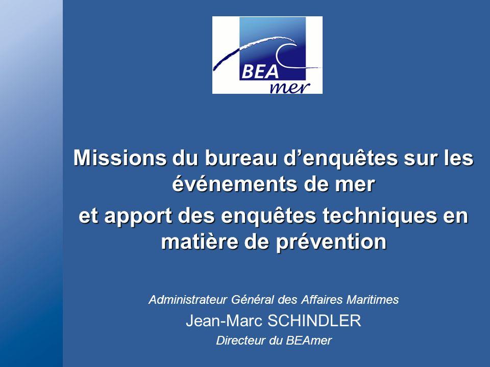 Missions du bureau d'enquêtes sur les événements de mer