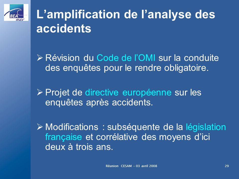 L'amplification de l'analyse des accidents