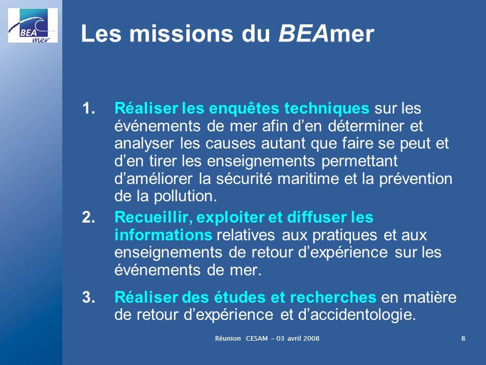 Les missions du BEAmer