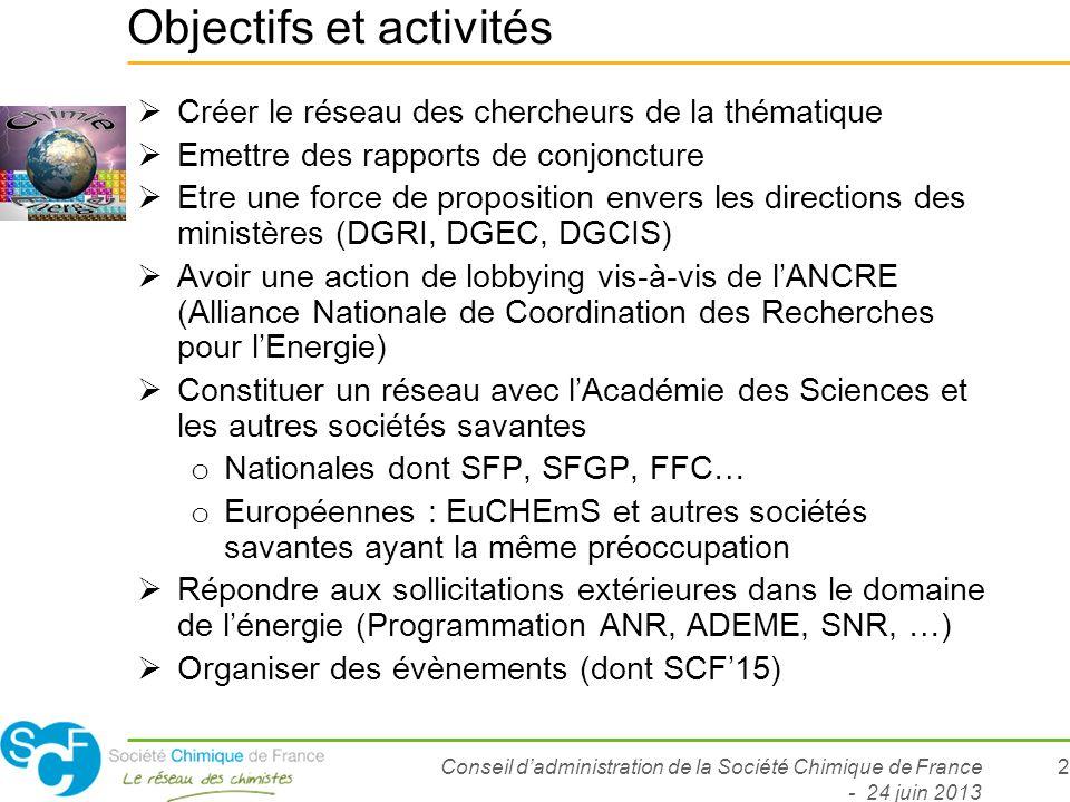 Objectifs et activités